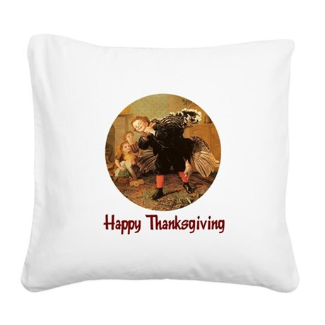 turkey3b.png Square Canvas Pillow