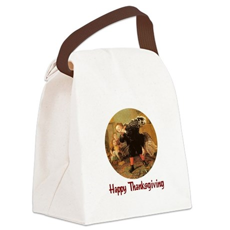 turkey3b.png Canvas Lunch Bag