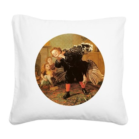 3-turkey3.png Square Canvas Pillow