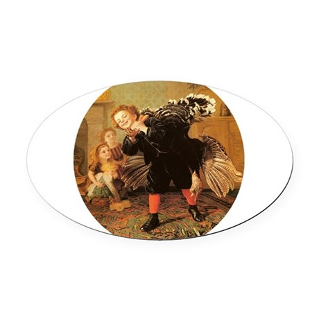3-turkey3.png Oval Car Magnet