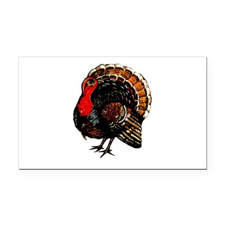 turkey2a.png Rectangle Car Magnet