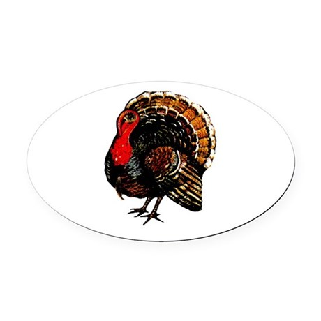 turkey2a.png Oval Car Magnet