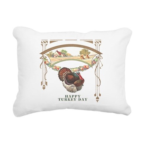 turkey3blk.png Rectangular Canvas Pillow
