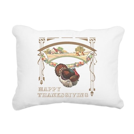 turkey2blk.png Rectangular Canvas Pillow