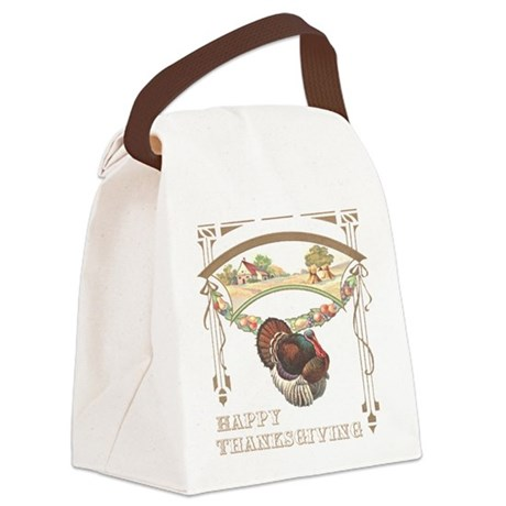 turkey2blk.png Canvas Lunch Bag
