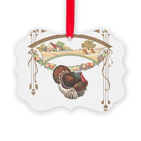 turkeyblk.png Picture Ornament