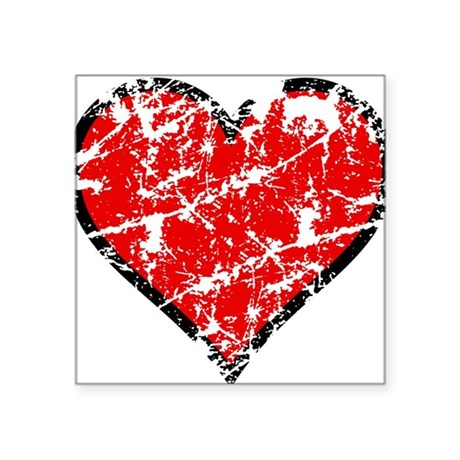 "heart6a.png Square Sticker 3"" x 3"""