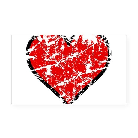 heart6a.png Rectangle Car Magnet