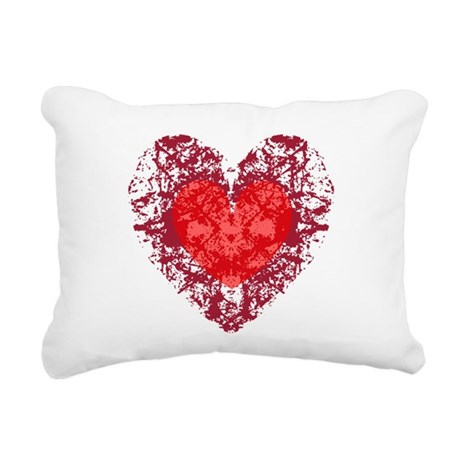 heart9a1.png Rectangular Canvas Pillow