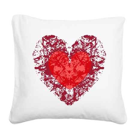 heart9a1.png Square Canvas Pillow