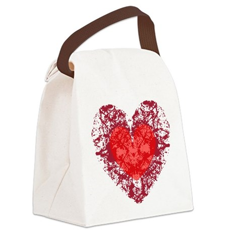 heart9a1.png Canvas Lunch Bag