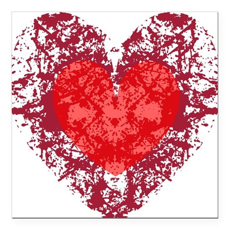 heart9a1.png Square Car Magnet 3&quot; x 3&quot;