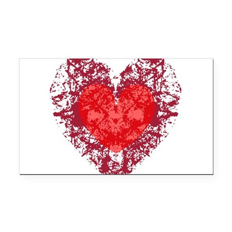 heart9a1.png Rectangle Car Magnet