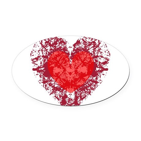 heart9a1.png Oval Car Magnet