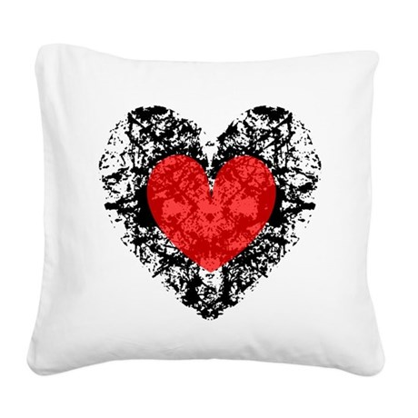 heart9a2.png Square Canvas Pillow