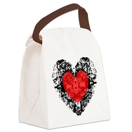 heart9a2.png Canvas Lunch Bag