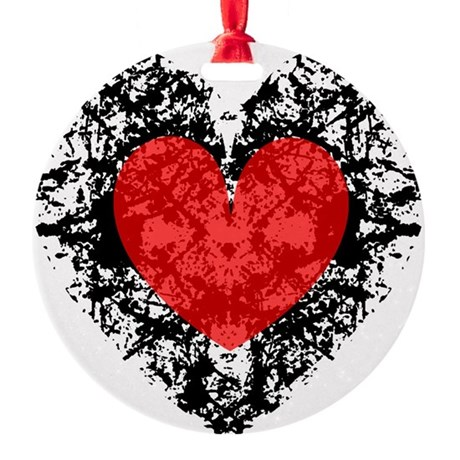 heart9a2.png Round Ornament