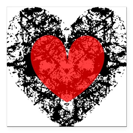 "heart9a2.png Square Car Magnet 3"" x 3"""