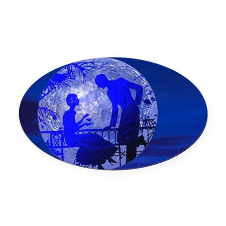 Moonlightlove.jpg Oval Car Magnet
