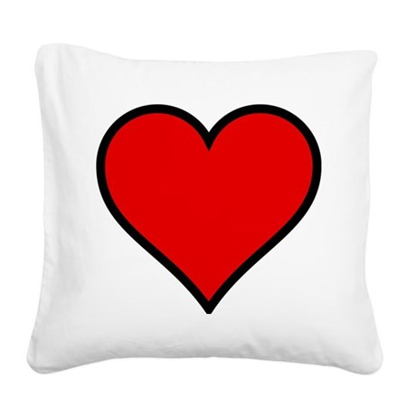 heart6.png Square Canvas Pillow