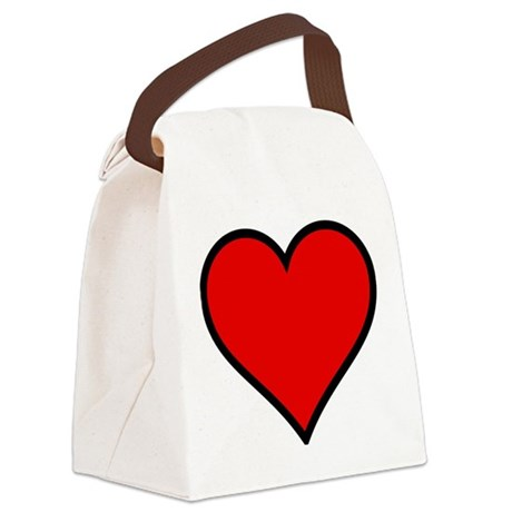 heart6.png Canvas Lunch Bag