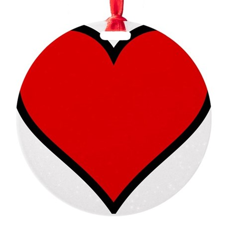 heart6.png Round Ornament