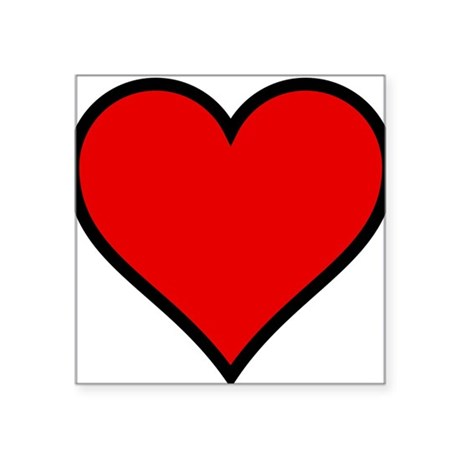 "heart6.png Square Sticker 3"" x 3"""