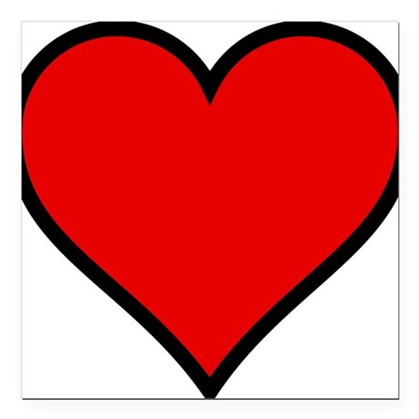 "heart6.png Square Car Magnet 3"" x 3"""