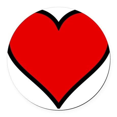 heart6.png Round Car Magnet