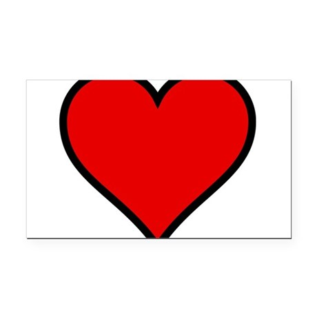 heart6.png Rectangle Car Magnet
