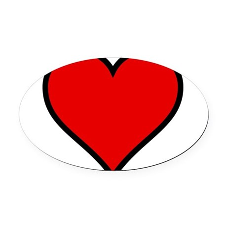 heart6.png Oval Car Magnet