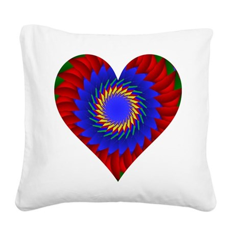 0004bheart.png Square Canvas Pillow