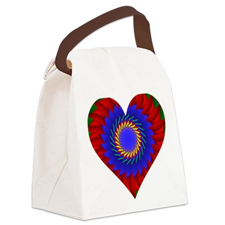 0004bheart.png Canvas Lunch Bag