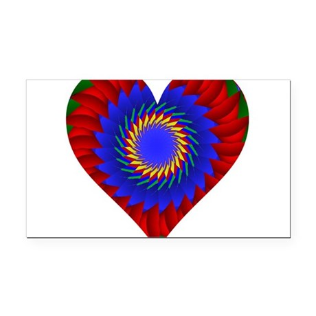 0004bheart.png Rectangle Car Magnet