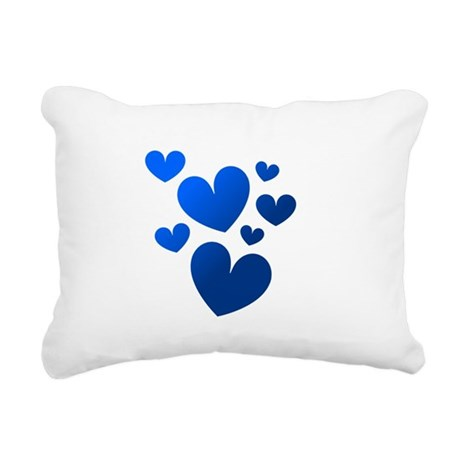 hearts5c.png Rectangular Canvas Pillow