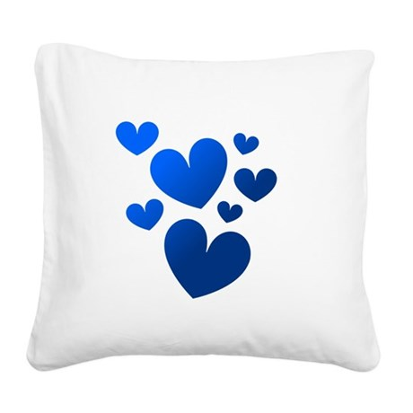 hearts5c.png Square Canvas Pillow
