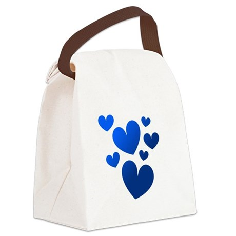 hearts5c.png Canvas Lunch Bag
