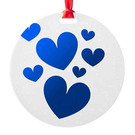 hearts5c.png Round Ornament