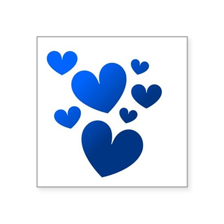 "hearts5c.png Square Sticker 3"" x 3"""