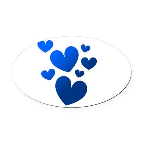hearts5c.png Oval Car Magnet