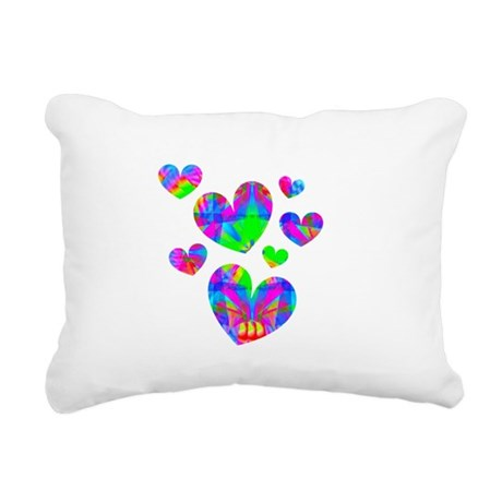 hearts5a.png Rectangular Canvas Pillow
