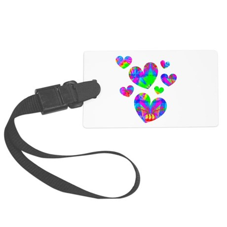 hearts5a.png Large Luggage Tag