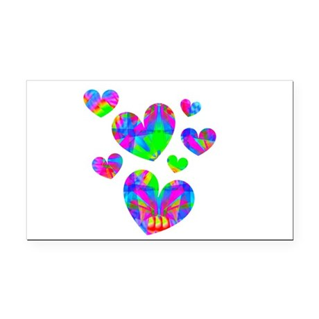 hearts5a.png Rectangle Car Magnet