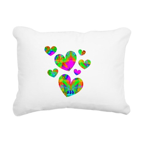hearts5.png Rectangular Canvas Pillow