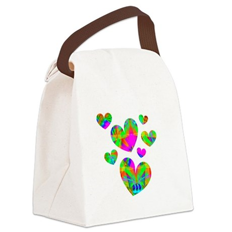 hearts5.png Canvas Lunch Bag