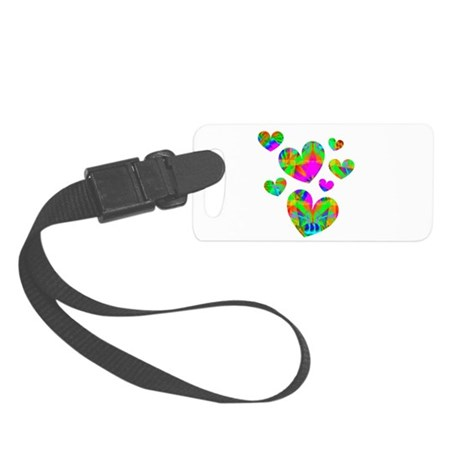 hearts5.png Small Luggage Tag