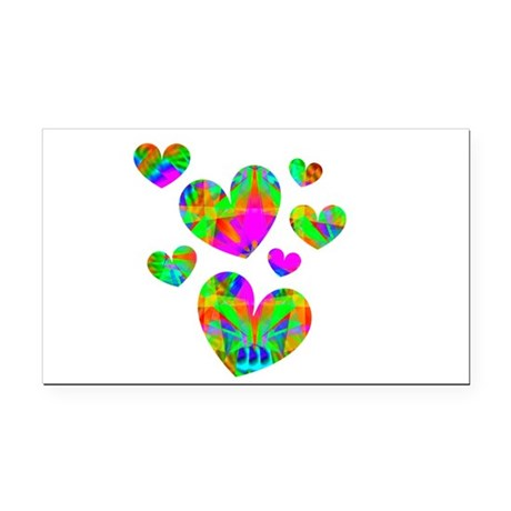 hearts5.png Rectangle Car Magnet