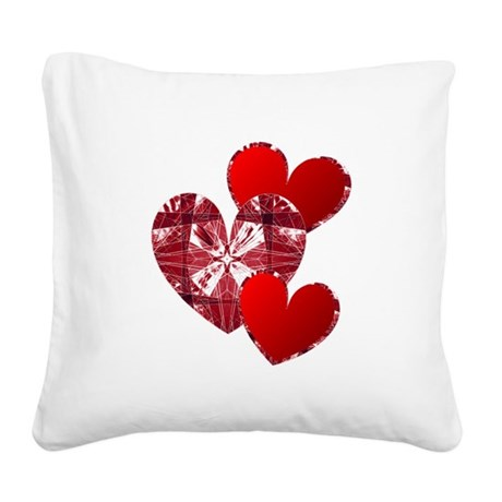 heart9c.png Square Canvas Pillow