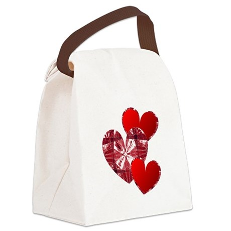 heart9c.png Canvas Lunch Bag