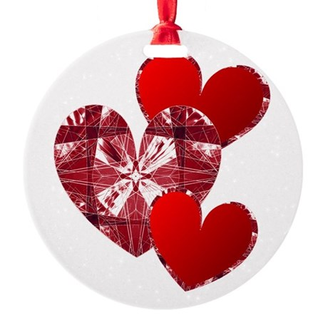 heart9c.png Round Ornament